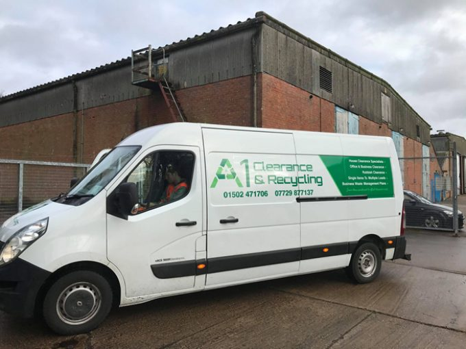 One of our vans at our storage yard