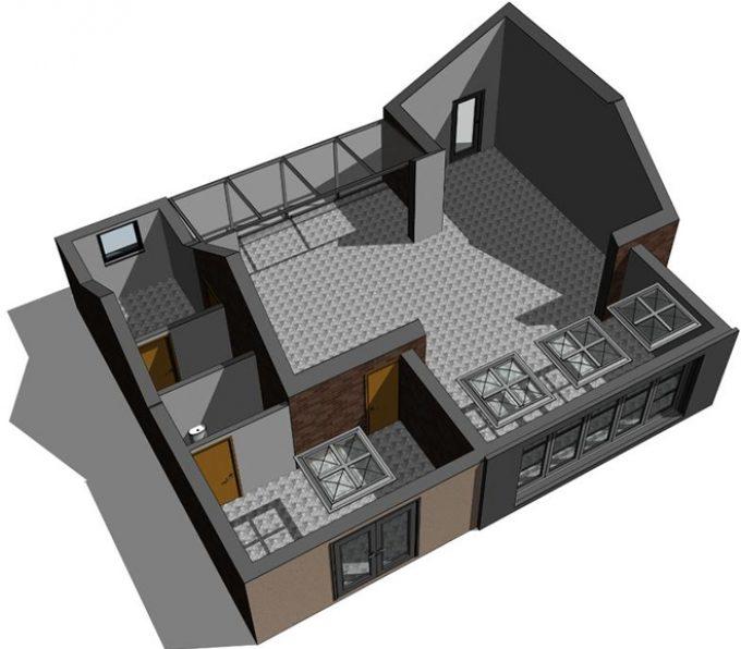 3D Autodesk Revit visual - New Build - Bottisham Cambridgeshire