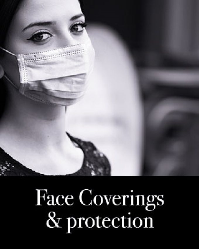 Face masks/covering and protection/visors