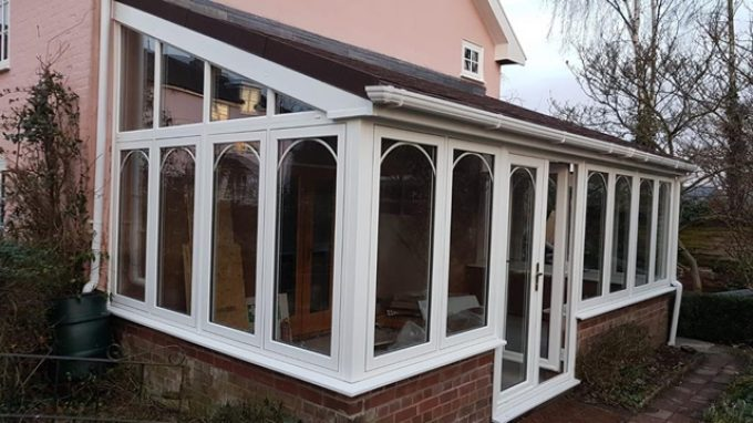 Yoxford(Conservatory on to existing Base with Flush Sash frames & a Supalite Warm Roof); £19.5K