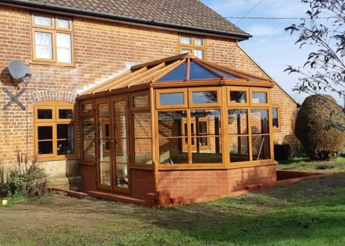 Woolvestone (Golden Oak Conservatory with Glass Roof); £14.8K