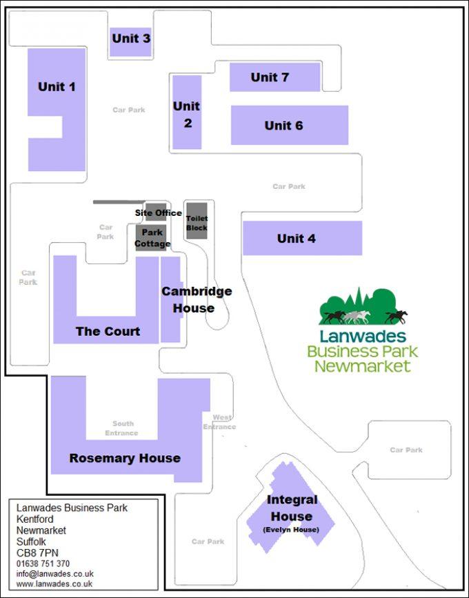Lanwades Business Park Site Map