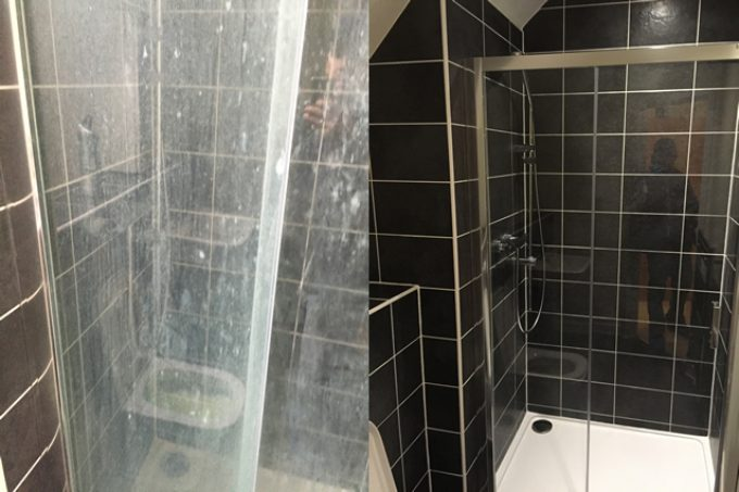 Removing limescale from glass shower screen & bathroom tiles