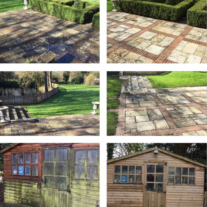 Service: Jet washing, patio Approx 3 hours (if no weeds) Shed front Approx 1 hour